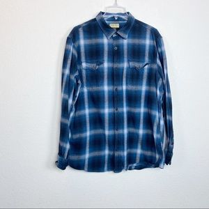 Sonoma Plaid Flannel button up shirt XXL